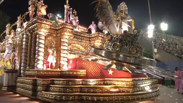 the samba school mangueira one of the most traditional floats in rio de janeiro's famous carnival has chosen the theme for its next parade with or... - samba school stock videos and b-roll footage