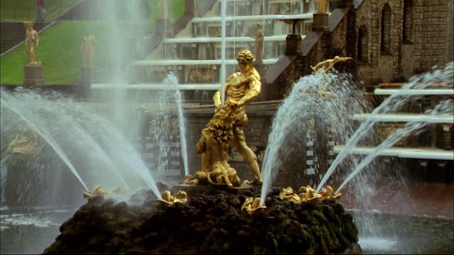The Sampson fountain lies near the Peterhof's Grand Cascade.
