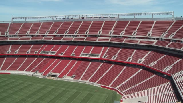 the san francisco 49ers are moving to the new levi's stadium in santa clara, which is currently under construction. one of the most technologically... - levi's stock videos & royalty-free footage