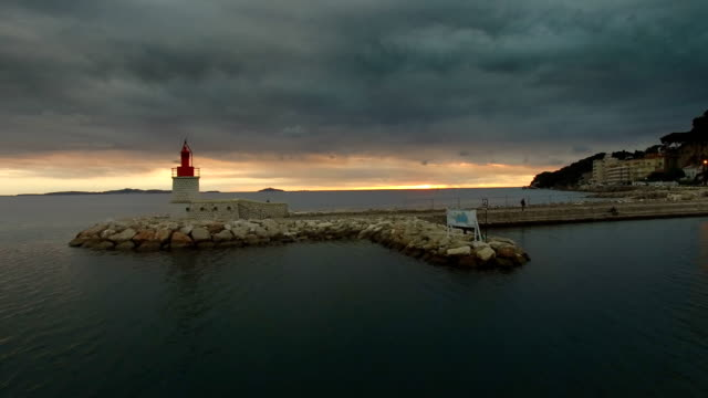 the sanary sur mer harbour, var, provence, france - bay of water stock-videos und b-roll-filmmaterial