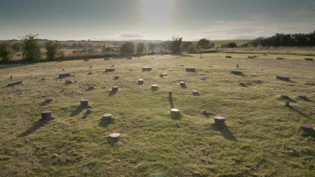 the sanctuary on the ridgeway - avebury stock videos & royalty-free footage