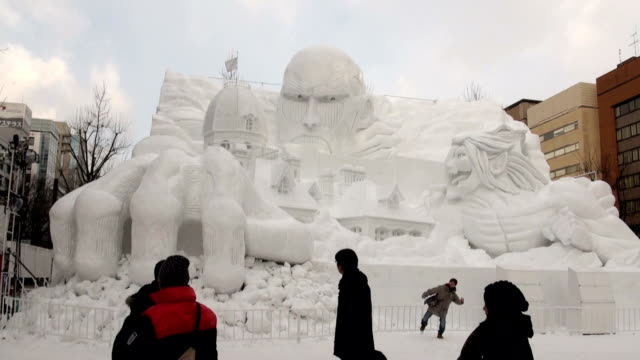 the sapporo snow festival an event synonymous with winter in hokkaido opened at three venues around sapporo on february 5 the festival marks the 67th... - snow festival stock videos & royalty-free footage