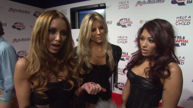 The Saturdays on performing with Chipmunk on their new single on looking forward to seeing Lady Gaga at the Capital FM's Jingle Bell Ball at London...