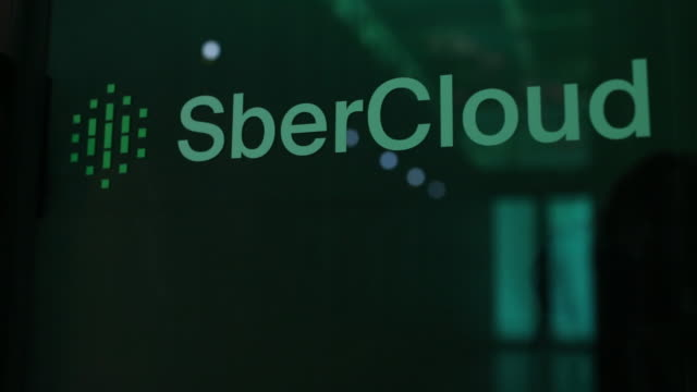 the sberbank and sbercloud christofari supercomputer stands during an event to mark its launch into commercial operation inside the sberbank pjsc... - commercial event stock videos & royalty-free footage
