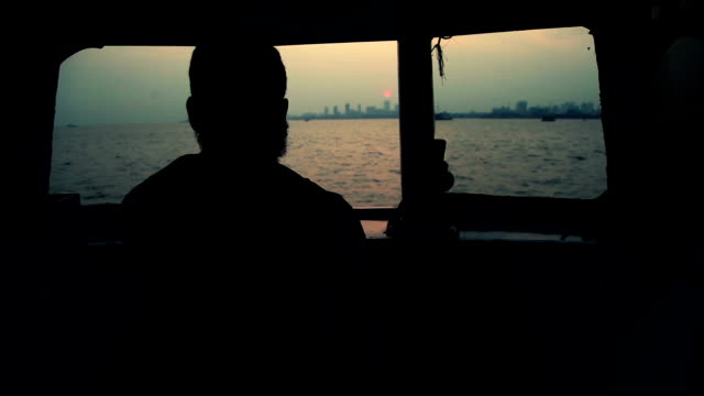 the scene of ferryboat captain control helm - boat point of view stock videos & royalty-free footage