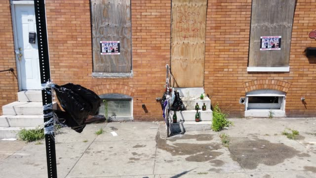 """the scene where activist erricka bridgeford of baltimore ceasefire led a """"sacred space"""" ritual near where a person was recently murdered on july 28,... - murder victim stock videos & royalty-free footage"""