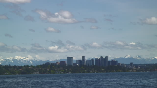 stockvideo's en b-roll-footage met the scenery of the bellevue city - washington state