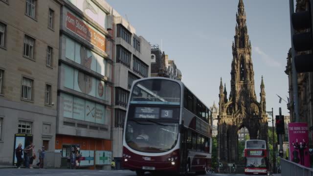 The Scott Monument seen from St David Street, Edinburgh.