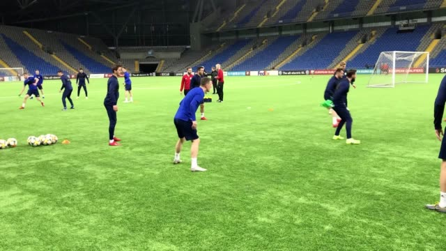 the scottish national football team trains in astana ahead of its euro 2020 qualifier against kazakhstan. - international team soccer stock videos & royalty-free footage