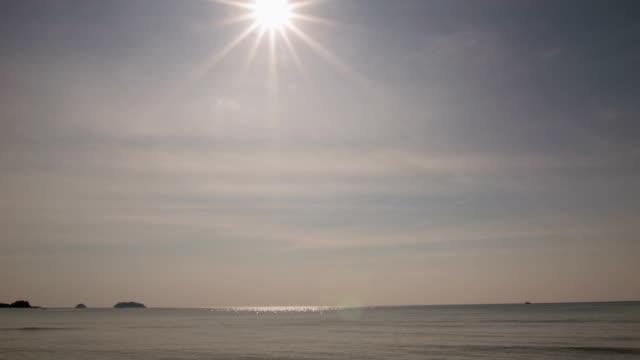 vidéos et rushes de de la mer au coucher du soleil - guadeloupe