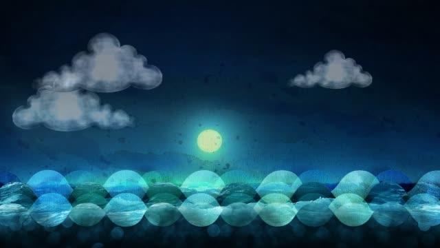 vidéos et rushes de la mer - vagues d'eau - noir blanc - couleur - le jour et la nuit avec la lune - soleil, bateau et mouettes - sortir du lot