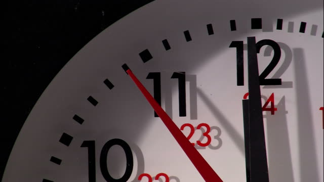 the second hand ticks across a clock face. - clock hand stock videos & royalty-free footage