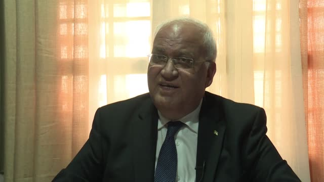 the secretary general of the palestine liberation organisation saeb erekat reacted friday to us president donald trump's comment that the... - palestine liberation organisation stock videos & royalty-free footage