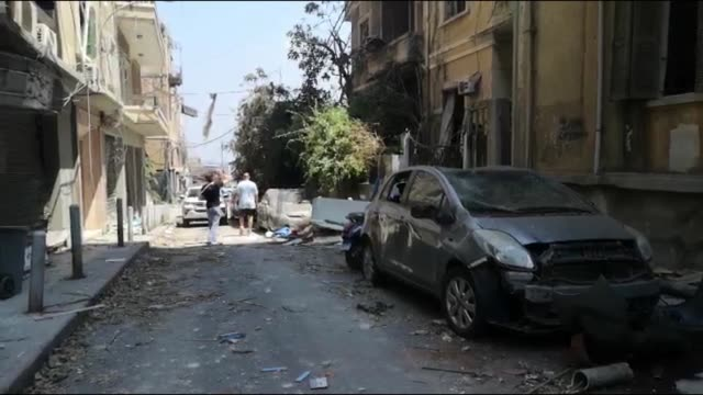 the secretary-general of the lebanese red cross on wednesday said victims of tuesday's explosion at the port of beirut have risen to 100 and more... - bombing stock videos & royalty-free footage