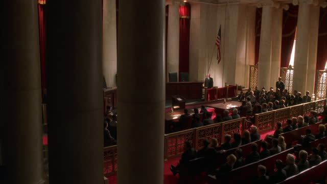 the senate fills a room in washington dc. - 連邦議会議員点の映像素材/bロール