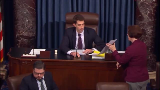 vídeos de stock, filmes e b-roll de the senate votes to fund the government through december 11 2015 - senado governo