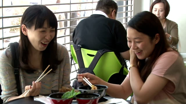 the sensation of gradeb gourmets japan's latest discovery of locally long cherished diet has reached tokyo's food scene as a permanent restaurant... - akihabara station stock videos and b-roll footage