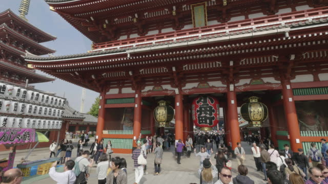 the sensoji temple. - tourism点の映像素材/bロール