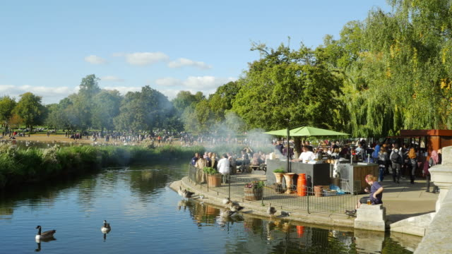 the serpentine in london hyde park (uhd) - hyde park london stock videos & royalty-free footage