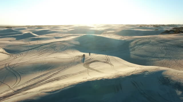 the setting of a sandy adventure - namibian desert stock videos and b-roll footage