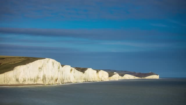 the seven sisters and beachy head - time lapse - east sussex stock videos & royalty-free footage
