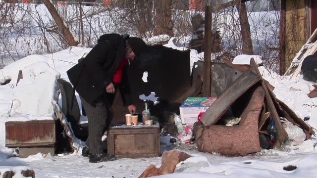 the severe cold spell that seized europe is now going away but lithuania's homeless people still experience frostbites amputations and even death... - lithuania stock videos and b-roll footage