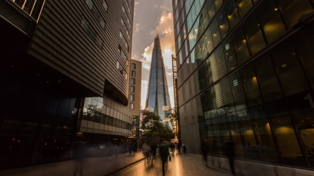 the shard hyperlapse london - hyper lapse stock videos & royalty-free footage