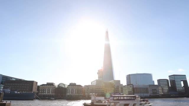 the shard london 4k - shard london bridge stock videos & royalty-free footage