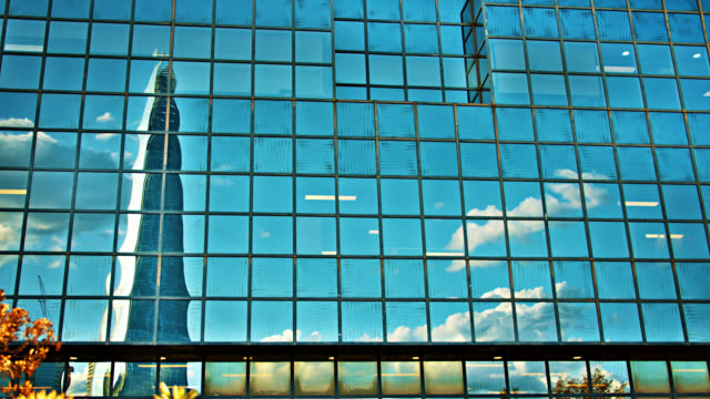 the shard. sky. reflection. financial building. - bridge built structure stock videos & royalty-free footage