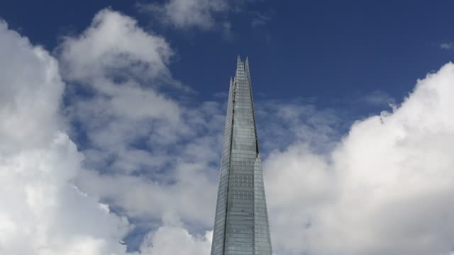 the shard, the tallest building in london, uk. - glass material stock videos & royalty-free footage