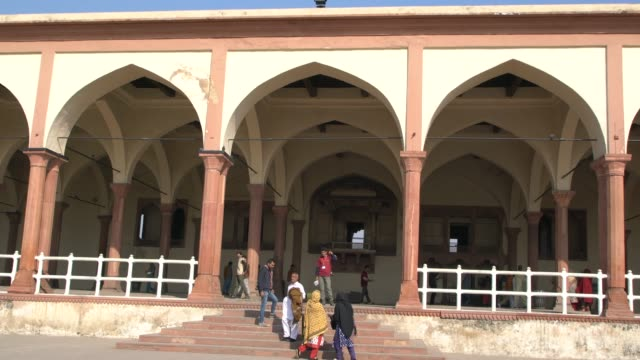 the sheesh mahal , lahore, pakistan; december 2, 2019; the sheesh mahal is located within the shah burj block in northern-western corner of lahore... - faded condition stock videos & royalty-free footage
