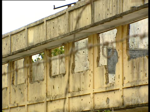 the shell of a building destroyed during the sri lankan civil war. - sri lanka stock videos & royalty-free footage