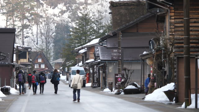 the shirakawago they are famous for their traditional gasshozukuri farmhouses some of which are more than 250 years old - nagano prefecture stock videos & royalty-free footage