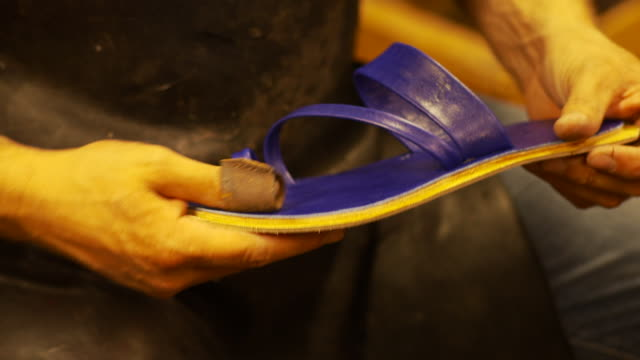 the shoemaker make a shoe - handwerker stock videos & royalty-free footage