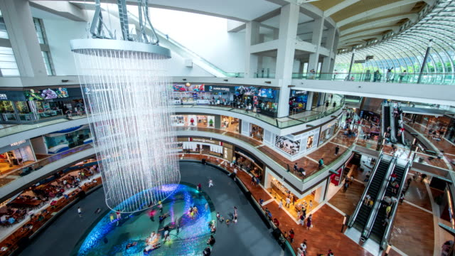 the shoppes at marina bay sands, singapore - spending money stock videos & royalty-free footage