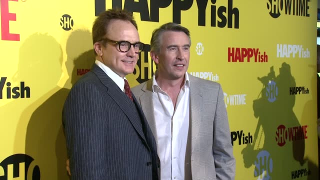 CHYRON The SHOWTIME Premiere Of The Original Comedy Series HAPPYish at Sunshine Cinema on April 20 2015 in New York City