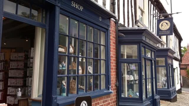 the shrine shop little walsingham, norfolk, england. - shrine stock videos & royalty-free footage