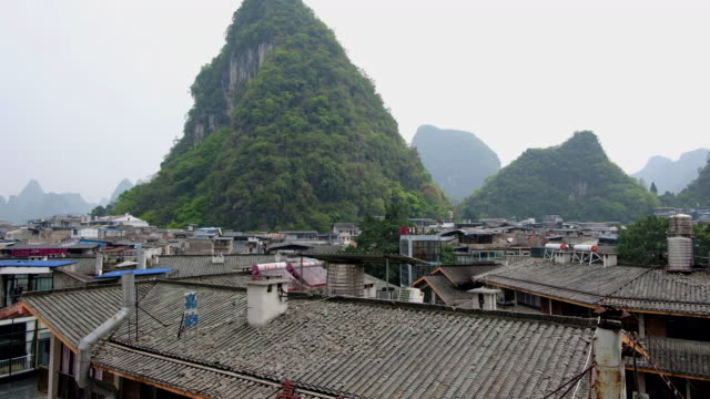 yang shuo city view - yangshuo stock videos & royalty-free footage