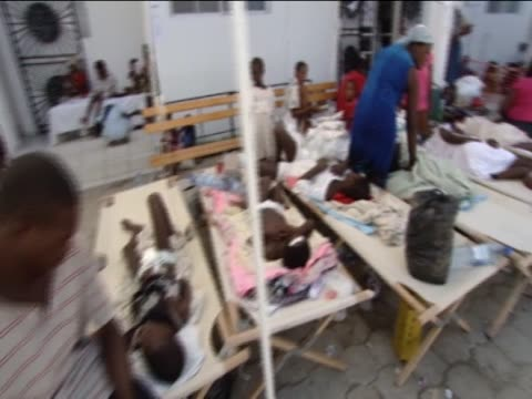 the sick are treated in hospital as cholera breaks out in the earthquake aftermath - vibrio stock videos & royalty-free footage