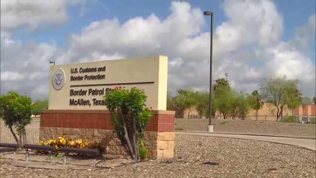 the sign outside of the border patrol station in mcallen, tx. - mcallen texas stock videos & royalty-free footage