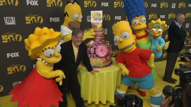 'The Simpsons' 500th Episode Celebration On The Yellow Carpet Hollywood CA United States 2/13/12