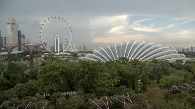 the singapore flyer in the city / singapore - singapore flyer stock videos and b-roll footage