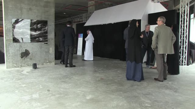the sister of the emir of qatar and chairperson of qatars museums sheikha al mayassa bint hamad bin khalifa al thani inaugurated on sunday the art... - chairperson stock videos & royalty-free footage