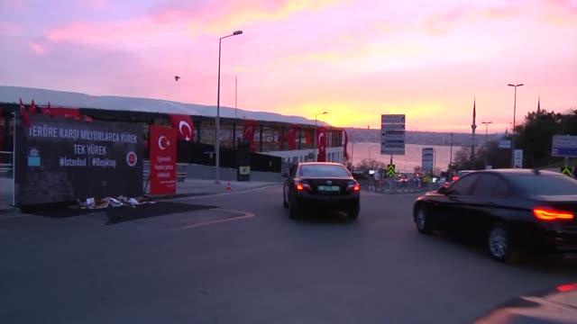 the site of a terror attack near the besiktas football club stadium vodafone arena in the besiktas district of istanbul turkey on december 12 2016... - besiktas stock videos and b-roll footage