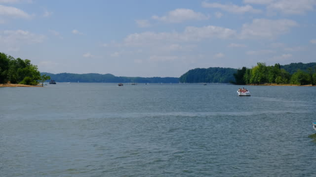 the site of a triple drowning at paynetown boat ramp at monroe lake sunday august 16 near bloomington indiana a car was driven into the lake and... - boat ramp stock videos & royalty-free footage