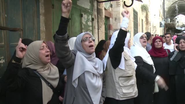 the situation was quiet on wednesday morning in the al aqsa compound after three days of clashes between palestinians and israeli forces - compounding stock videos and b-roll footage