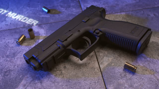 the sixth commandment on a handgun - number 6 stock videos & royalty-free footage