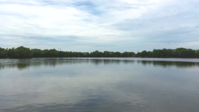the sky and cloud reflected on water - reflector stock videos & royalty-free footage