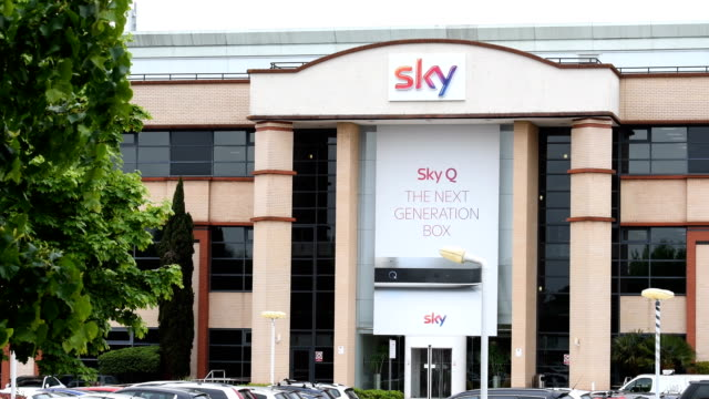 stockvideo's en b-roll-footage met the sky headquarters in isleworth on may 9, 2017 in london, england. the independent communications regulator ofcom is currently examining a bid... - number 9