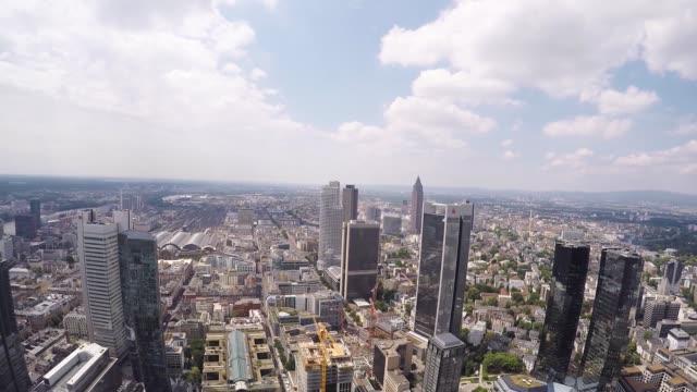 The skyline of Frankfurt Germany on Thursday June 11 2014